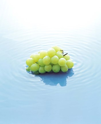Framed Bunch of Grapes Floating On Water Print