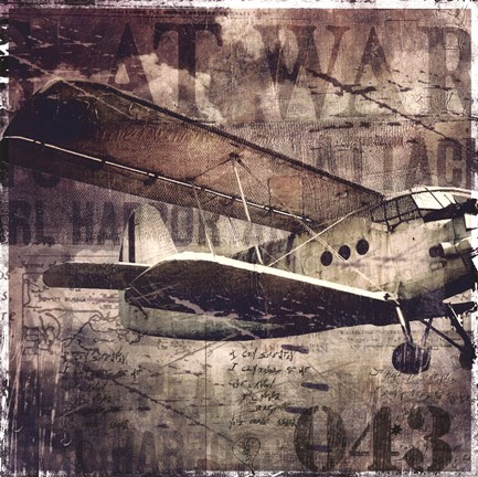 Framed Vintage War Aircraft Print