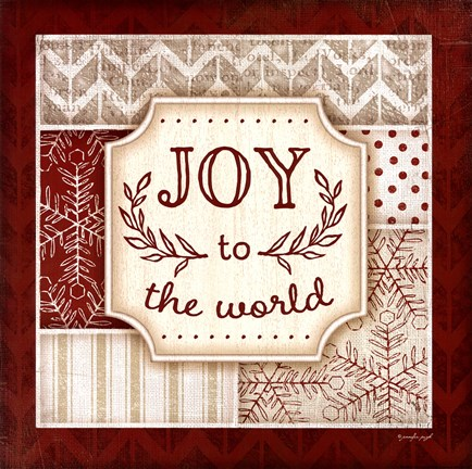 Framed Joy to the World - Red Print