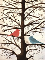 Two Birds in a Tree Art