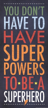 Framed Superhero Superpowers Print