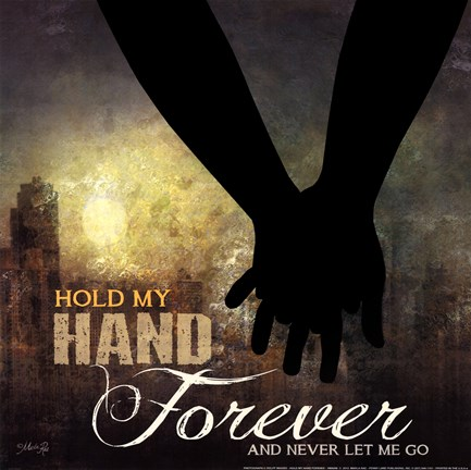 Framed Hold My Hand Forever Print