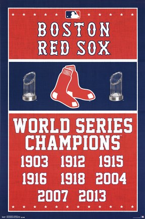 Framed Boston Red Sox® - Champions 14 Print