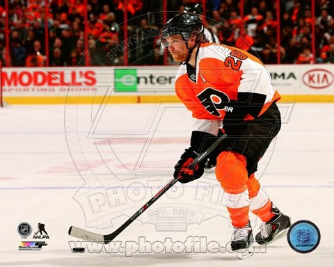 Framed Claude Giroux 2013-14 Action Print