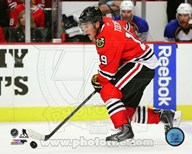 Jonathan Toews 2013-14 with the puck  Fine Art Print