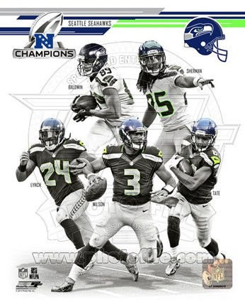 Framed Seattle Seahawks 2013 NFC Champions Team Composite Print