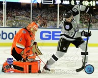 Jeff Carter & Jonas Hiller 2014 NHL Stadium Series Action Art
