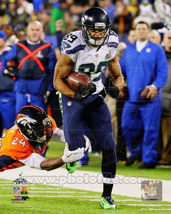 Framed Doug Baldwin Super Bowl XLVIII Action Print