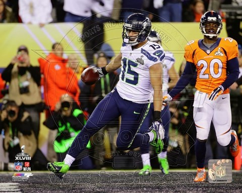 Framed Jermaine Kearse Touchdown Super Bowl XLVIII Print