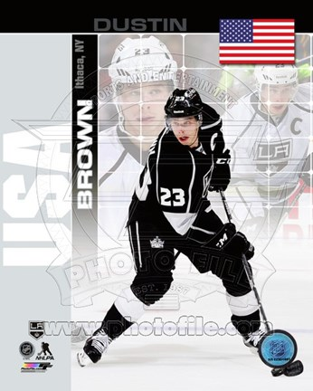 Framed Dustin Brown - USA Portrait Plus Print