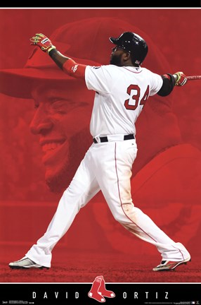 Framed Boston Red Sox® - D Ortiz 14 Print