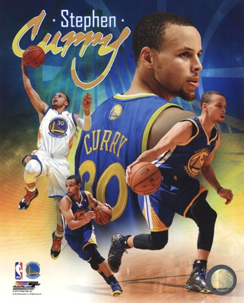 Framed Stephen Curry 2014 Portrait Plus Print