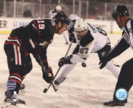 Jonathan Toews & Sidney Crosby 2014 NHL Stadium Series Action  Fine Art Print