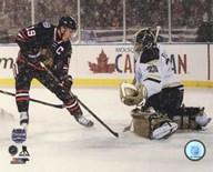 Jonathan Toews 2014 NHL Stadium Series Action  Fine Art Print
