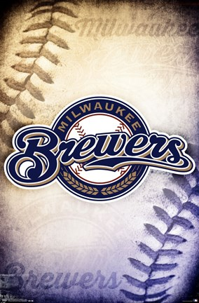 Framed Milwaukee Brewers® - Logo 14 Print