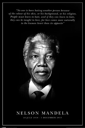Framed Nelson Mandela - Commemorative Print