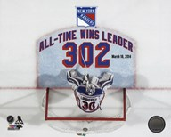 Henrik Lundqvist New York Rangers All-Time Wins Leader 302 Wins Overlay Art