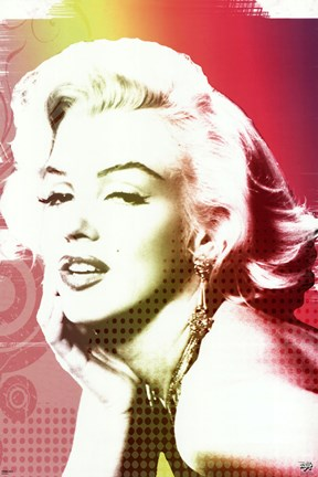 Framed Marilyn Monroe - Rainbow Print