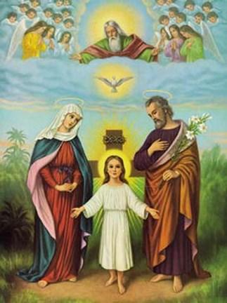 Jesus Maria Joseph Fine Art Print By Unknown At