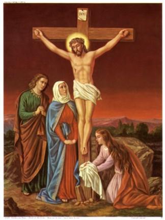 Christus Am Kreuz Fine Art Print By Unknown At