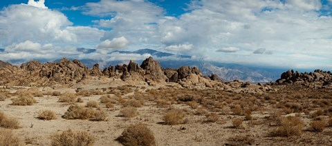 Framed Rock formations in a desert, Alabama Hills, Owens Valley, Lone Pine, California, USA Print