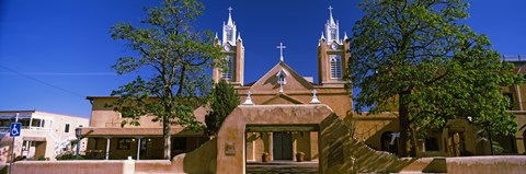 Framed Facade of a church, San Felipe de Neri Church, Old Town, Albuquerque, New Mexico, USA Print