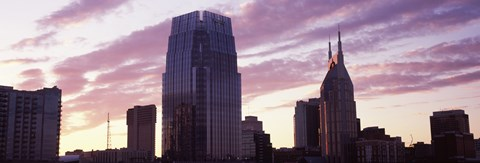 Framed Pinnacle at Symphony Place and BellSouth Building at sunset, Nashville, Tennessee, USA 2013 Print