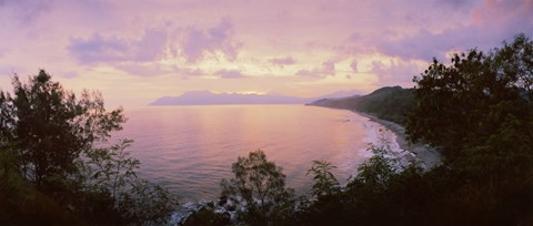 Framed Coastline, Flores Island, Indonesia Print