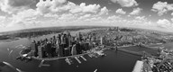 Aerial View of New York City (black & white) Art