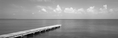 Framed Dock, Mobile Bay Alabama, USA Print