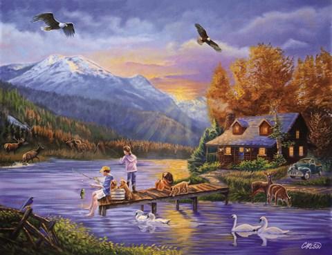 Grandpa S Cabin Fine Art Print By Cory Carlson At