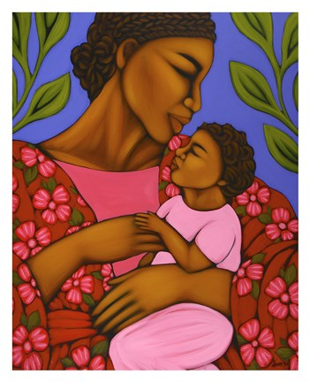 Framed African Mother and Baby Print