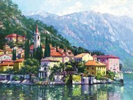 Reflections of Lake Como Art