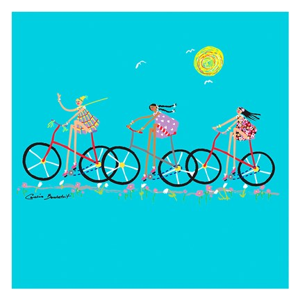 Framed Tour de Girls Print