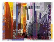 New York Sky Urban  Fine Art Print