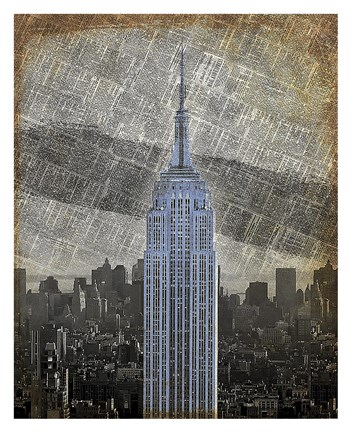 Framed New York Empire State Building II Print