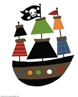 Pirate Ship  Fine Art Print