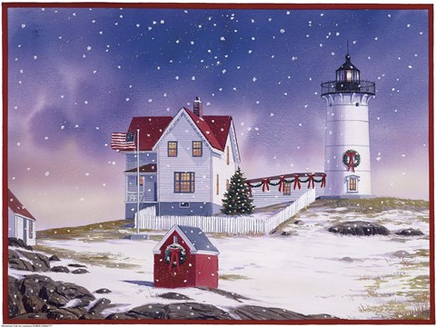 Winter Lighthouse 2 Fine Art Print By William Vanderdasson
