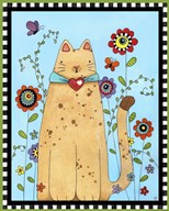 Kitty in the Garden  Fine Art Print
