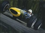 Blue Race Car  Fine Art Print