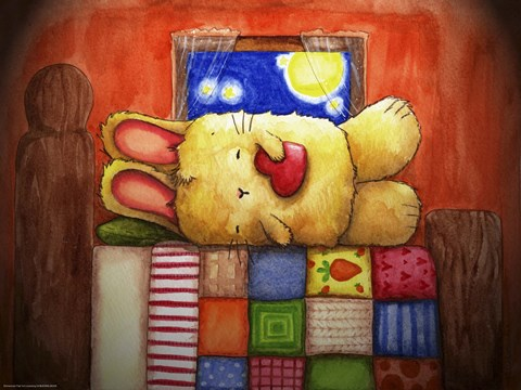 Framed Sweet Dreams Bunny Print