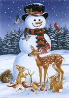 Snowman With Friends Art