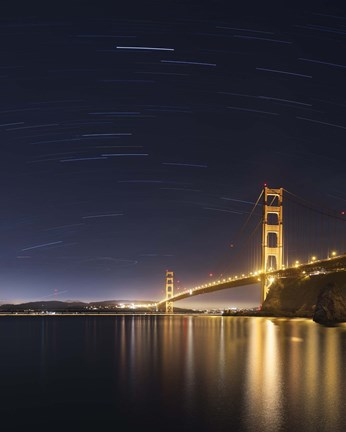 Framed Golden Gate and Stars Print