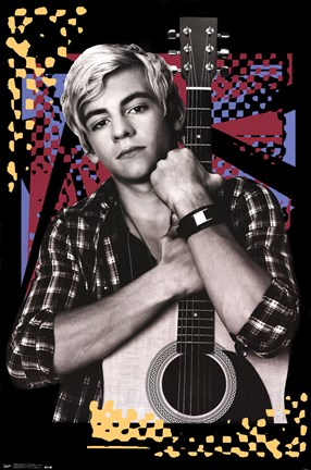 Framed Austin and Ally - Austin Guitar Print