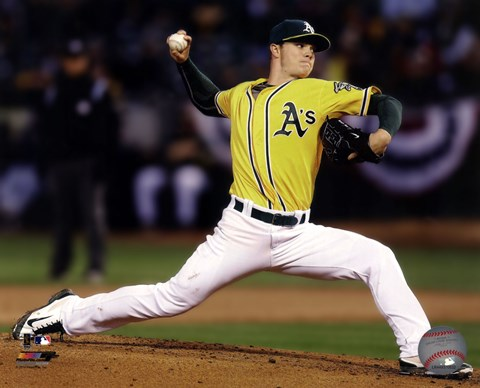 Framed Sonny Gray 2014 Action Print
