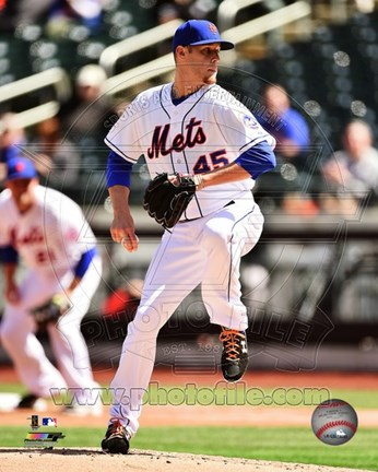 Framed Zack Wheeler 2014 Action Print