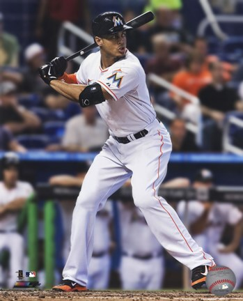 Framed Giancarlo Stanton 2014 Action Print