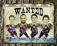 "Colorado Avalanche """"Wanted"""" Composite Art"