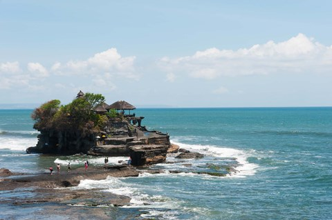 Framed Sea temple, Tanah Lot Temple, Tanah Lot, Bali, Indonesia Print