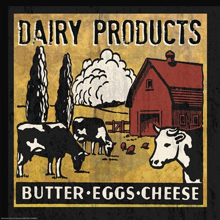 Framed Dairy Products Print